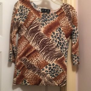 Animal print fancy T-shirt S